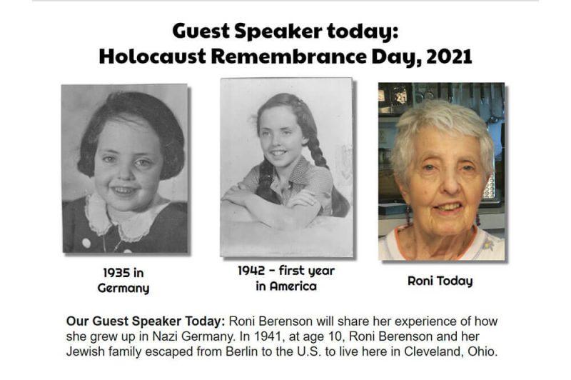 holocaust remembrance speaker graphic